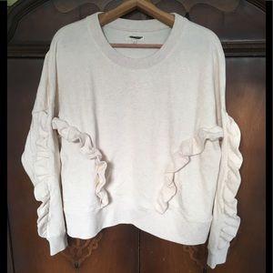 NEW Madewell Ruffle Sweatshirt size large